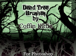 Photoshop Brushes: Dead Trees