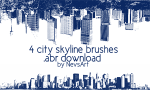 City Skyline Brushes