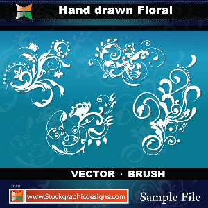Hand Drawn Floral-Brush